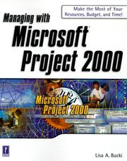 Cover of: Managing with Microsoft Project 2000