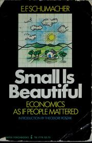 Cover of: Small is beautiful