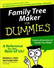 Cover of: Family tree maker for dummies