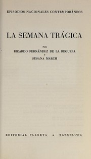 Cover of: La  semana trágica