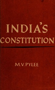 Cover of: India's Constitution