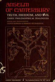 Cover of: Truth, freedom and evil