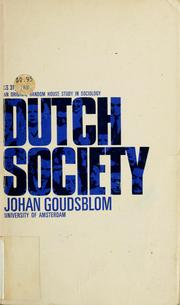 Cover of: Dutch society