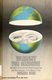Cover of: Warrant for genocide