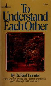Cover of: To Understand Each Other