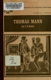 Cover of: Thomas Mann
