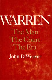 Cover of: Warren: the man, the court, the era