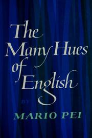 Cover of: The many hues of English