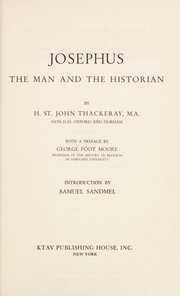 Cover of: Josephus, the man and the historian