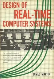 Cover of: Design of real-time computer systems