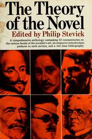 Cover of: The theory of the novel