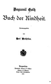 Cover of: Buch der Kindheit