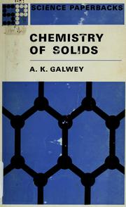 Cover of: Chemistry of solids