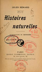 Cover of: Histoires naturelles