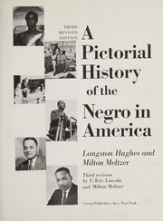 Cover of: A pictorial history of the Negro in America