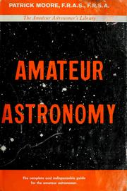 Cover of: Amateur astronomy