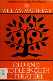 Cover of: Old and Middle English literature