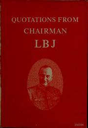 Cover of: Quotations from Chairman LBJ