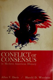 Cover of: Conflict or consensus in early American history