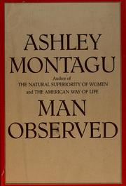 Cover of: Man observed