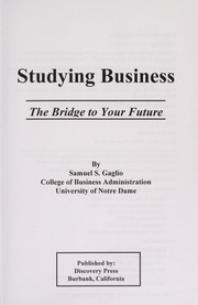 Cover of: Studying business