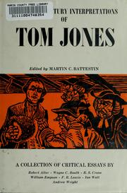 Cover of: Twentieth century interpretations of Tom Jones