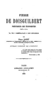 Cover of: Pierre de Boisguilbert