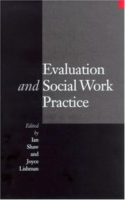 Cover of: Evaluation and Social Work Practice