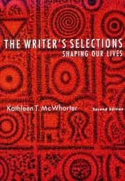 Cover of: The writer's selections