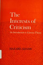 Cover of: The interests of criticism