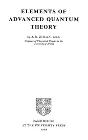 Cover of: Elements of advanced quantum theory