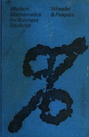 Cover of: Modern mathematics for business students