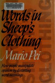 Cover of: Words in sheep's clothing