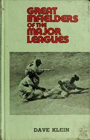Cover of: Great infielders of the major leagues