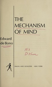 Cover of: The mechanism of mind