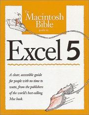 Cover of: The Macintosh bible guide to Excel 5