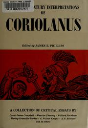 Cover of: Twentieth century interpretations of Coriolanus