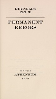 Cover of: Permanent errors