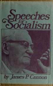 Cover of: Speeches for socialism
