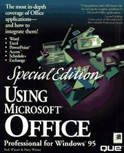 Cover of: Using Microsoft Office professional for Windows 95