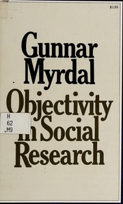 Cover of: Objectivity in social research