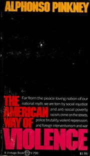 Cover of: The American way of violence