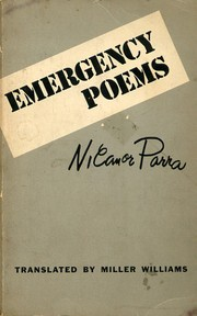 Cover of: Emergency poems: Translated by Miller Williams.