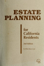 Cover of: Estate planning for California residents