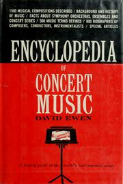 Cover of: Encyclopedia of concert music