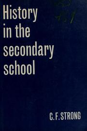 Cover of: History in the secondary school