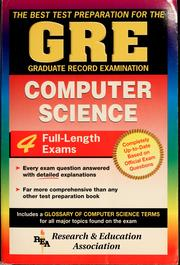 Cover of: The Best test preparation for the GRE, Graduate Record Examination, computer science