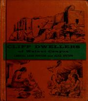 Cover of: Cliff dwellers of Walnut Canyon