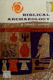 Cover of: Biblical archaeology