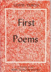 Cover of: First poems.